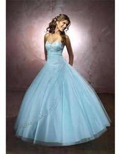 6215e48816e luxusní světle modré plesové šaty na maturitní ples XXL-3XL - Hollywood  Style E-