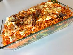 "Sofie on Instagram: ""🥦Enkel & Sunn Grateng🥕 •2 pk Karbonadedeig,1 boks Hermetisk tomat m chilli, Tomatpuré, Paprikakrydder & Oregano, evt litt god olje -…"" Lasagna, God, Ethnic Recipes, Instagram, Dios, Allah, Lasagne, The Lord"