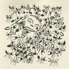 Gabriel García Márquez: Cem Anos de Solidão. Ilustración de Carybé. O Último Buendia e as formigas ruivas: I