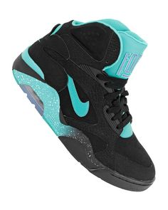 Nike Air Force 180 Mid - Black / Atomic Teal - Violet Force #sneakers #kicks