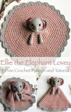 A free crochet pattern of an elephant lovey. Do you also want to crochet this lovey? Read more about the Free Crochet Pattern Elephant Lovey Ellie. Crochet For Beginners, Crochet For Kids, Free Crochet, Knit Crochet, Crochet Lovey Free Pattern, Crochet Baby Stuff, Crotchet, Learn Crochet, Crochet Baby Toys