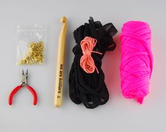 DIY Fabric Yarn Necklace from the We Are Knitters Blog | Fabric Yarn Project Ideas