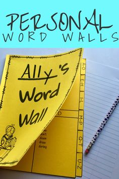 This personal word wall is a great idea for students who need a resource at their desk. It can also be useful for the whole class to have at their desks if you don't have room for a word wall in your classroom! Click to check it out. Rhyming Words, Vocabulary Words, Reading Wonders, Reading Resources, School Resources, First Day Of School Activities, 2nd Grade Reading, High Frequency Words, Elementary Schools