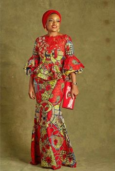 Classy picture collection of Beautiful Ankara Skirt And Blouse Styles These are the most beautiful ankara skirt and blouse trending at the moment. If you must rock anything ankara skirt and blouse styles and design. Latest African Fashion Dresses, African Print Dresses, African Print Fashion, Africa Fashion, African Dress, Fashion Prints, Ankara Fashion, African Prints, Nigerian Fashion