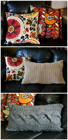 DIY Home Decor | How to make a pillow from an old sweater