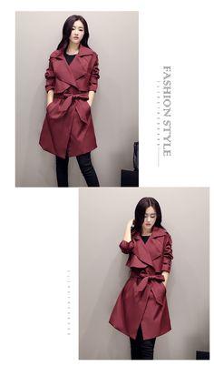2016 Nova moda primavera/Casual Trench Coat longa das mulheres Casacos roupas soltas para senhora de boa qualidade em Trincheira de Das mulheres Roupas & Acessórios no AliExpress.com | Alibaba Group