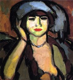 The Athenaeum - Blue Beads, Paris (John Duncan Fergusson - 1910)