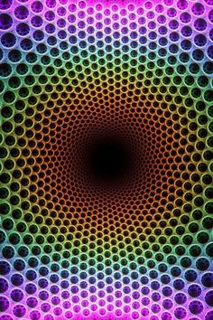 One of my all time favorite optical illusions. Your mind plays tricks on you. Optical Illusion Gif, Cool Optical Illusions, Illusion Art, Psychedelic Art, Foto 3d, Hippie Trippy, Fractal Art, Sacred Geometry, Textures Patterns