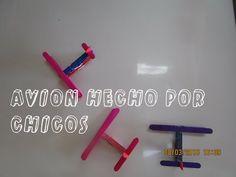 AVION HECHO POR NIÑOS Luz Mireya Martinez - YouTube