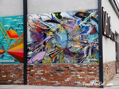 Work by Jolt of Guerrilla Garden. Dada Art Bar. Street Art. Downtown Denver, Colorado