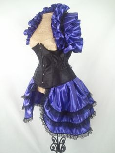 Royal Purple and Black Bustle and Opera by DelightfullyDeviant, $55.00