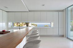 "Modern Villa ""Roca Llisa"" Located In Breathtaking Ibiza - Architecture Beast Luxury Estate, Luxury Homes, Cuisines Design, Minimalist Kitchen, Modern Interior, Interior Architecture, Minimal Architecture, Beautiful Homes, Kitchen Design"