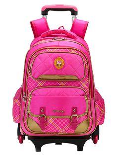 2017 New Trolley Backpack For Children School Wheeled Bag Boys Detachable  Backpack For Girls 2  b1a323cd1e