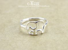 925 Sterling Silver Elephant Ring by WaterDropletsFamily on Etsy
