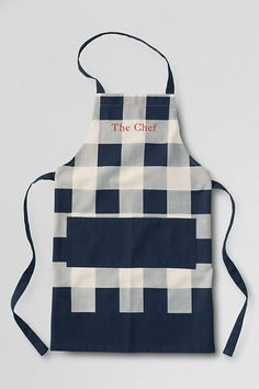 Father's Day GIft Idea: Canvas Apron from Lands' End for the Grill Master