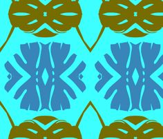 Bayou Blue fabric by nascustomwallcoverings on Spoonflower - custom fabric