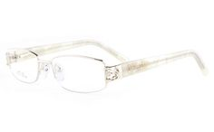 5ed546d1a563 Vista First 8807 Stainless Steel ZYL Womens Semi-rimless Optical Glasses -  Oval Frame(Silver)