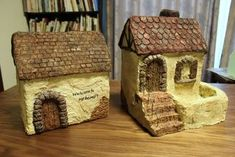 モルタル造形でミニハウスが完成 - m's diary