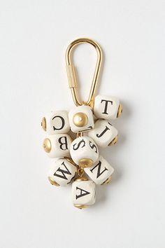 Letter Jumble Keychain  #anthropologie