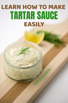 Tartar sauce is a staple recipe enjoyed by different cultures worldwide. It's easy to make because its ingredients are in the kitchen or the refrigerator. Tartar sauce recipe from home will make you detest the ones bought from the market! Tartar sauce recipe can be done at home from the very scratch. Visit our site for more information. #tarttarsauce #tartarsaucerecipe #tartarsaucerecipeeasy #tartarsaucerecipehomemade Classic Tartar Sauce Recipe, Sauce Recipes, Cooking Recipes, Staple Recipe, Healthy Foods To Eat, Healthy Recipes, Homemade Mayonnaise