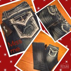 Miss Me NWT relaxed boot 28/30 denim jeans Just in Only pair Miss Me NWT 28/30 relaxed boot scalloped edged jeans. Light blue around pockets with rhinestones as well. These are the only pair.  Miss Me Jeans Boot Cut
