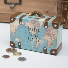 https://www.sassandbelle.co.uk/Saving To Go Places Vintage Map Money Pot