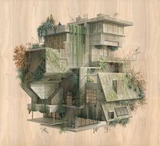 Surreal Architectural Illustrations By Cinta Vidal Agulló