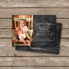 Christmas O Holy Night Chalkboard Photo by SimplyPutPrintables