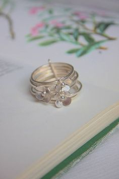 buttercup stack ring by yume jewellery | notonthehighstreet.com