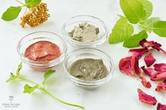 Three simple formulas for dry clay facials - made with all natural clays and essential oils. Continue Reading Clay Facial Masks – Three Ways Mask For Oily Skin, Skin Mask, Face Mask For Spots, Make Your Own Clay, Avocado Face Mask, Clay Face Mask, Facial Masks, Facial Diy, Face Facial