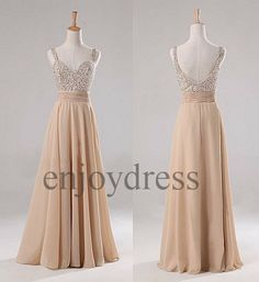 Long bridesmaid dresses, Bridesmaid dresses 2014 and Champagne on ...