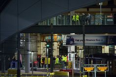 Police operations deep inside Manchester Victoria station last night following a terrorist attack at an Ariana Grande concert at the Manchester Arena. A suicide bomber killed 22 people and injured another 59.
