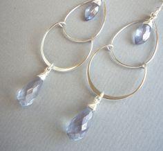 CHANDELIERS Sterling Silber & Quarz Briolette von SCHMUCK. by felicitas mayer auf DaWanda.com