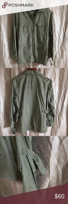 "Ralph Lauren Military Style Button Up Excellent condition! Approx Flat Lay Measurements- Bust - 22.5"" 100% Cotton ***this is a men's shirt shirt but would be super cute for women as well. It would be adorable as an oversized military style shirt. Its lighter than a Jacket but heavier than a normal Button Up. Lauren Ralph Lauren Jackets & Coats Utility Jackets"