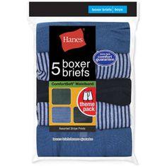 Hanes Boys' Boxer Briefs, 5 Pack