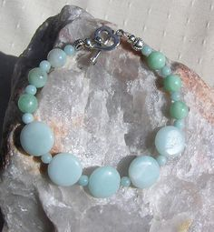 Amazonite Gemstone Crystal Bracelet  Chenille by SunnyCrystals, £9.75
