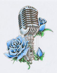 microphone tattoo - Buscar con Google