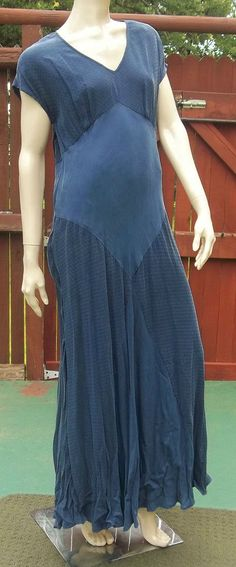 NWT WILD ROSE INDIGO RAYON SIZE 10 MAXI DRESS ~ ORIG $138 #WILDROSE #Maxi #Casual