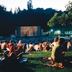 Things to do in Berlin: open air Cinema(  what a fab idea to get people n community tog