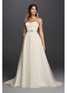 Tulle Wedding Dress with Sweetheart Neckline NTWG3802