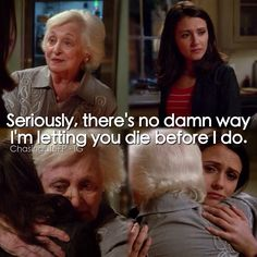 """#ChasingLife 1x05 """"The Family That Lies Together"""" - April and her Grandmother"""