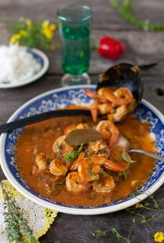 "Shrimp Etouffee ~ The name Etouffée refers to ""smothering"" the seafood with a heavy sauce. This method of cooking has its roots in Creole cuisine."
