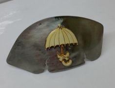 Haarspangen - Silberbesteck Haarspange mit Regenschirm HS101 - ein Designerstück von Atelier-Regina bei DaWanda