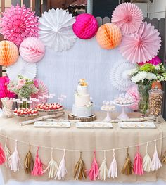 Baby Shower Dessert Table by Petite Party Studio - love this girly take on a woodland animals-inspired nursery!Foxy Baby Shower Dessert Table by Petite Party Studio - love this girly take on a woodland animals-inspired nursery! Deco Baby Shower, Shower Party, Baby Shower Parties, Baby Showers, Baby Shower Backdrop, Shower Cake, Bridal Showers, Party Decoration, Birthday Decorations