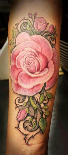 Rose tattoo... I LOVE THIS