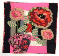 Apliques y bordados textiles Collage por MandyPattullo en Etsy