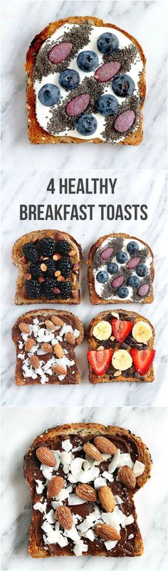 Need some toast inspiration? Try one (or all!) of these beautiful and HEALTHY breakfast toasts. // Ambitious Kitchen
