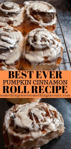 Soft, fluffy, sticky cinnamon rolls filled with pumpkin purée, pumpkin spice, cinnamon and topped with a mouthwatering maple glaze - these pumpkin cinnamon rolls are THE ultimate Autumn comfort food! Pumpkin Recipes, Fall Recipes, Best Nutrition Food, Proper Nutrition, Nutrition Guide, Nutrition Pyramid, Cheese Nutrition, Nutrition Articles, Pumpkin Cinnamon Rolls