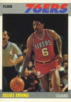 julius erving basketball cards | 1987 Fleer Julius Erving #35 Basketball Card