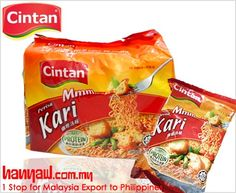 We export Cintan Noodles Instant Curry to philippines. Visit-  http://www.hanyaw.com.my/Products/group/Instant_Noodles_Cintan.html